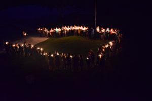 Candle light circle