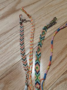 picture of four friendship bracelets